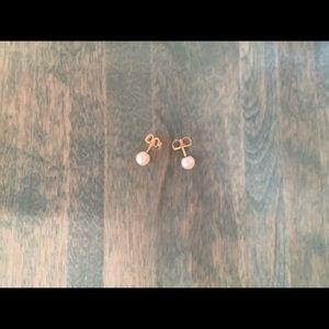 6mm White Cultured Pearl Earrings